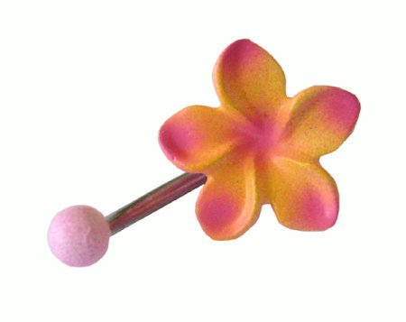 Frangipani belly ring