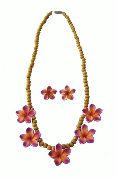 POP Frangipani necklace set
