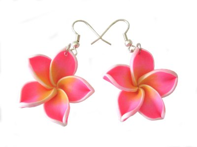 vibrant pink earrings