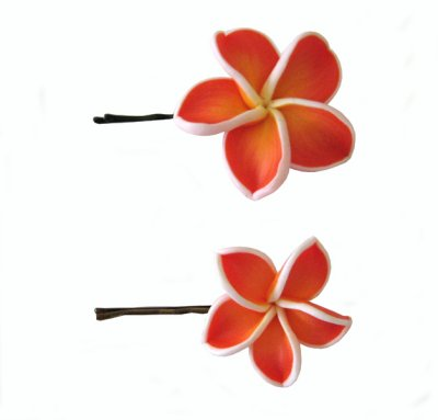 hairclip orange red