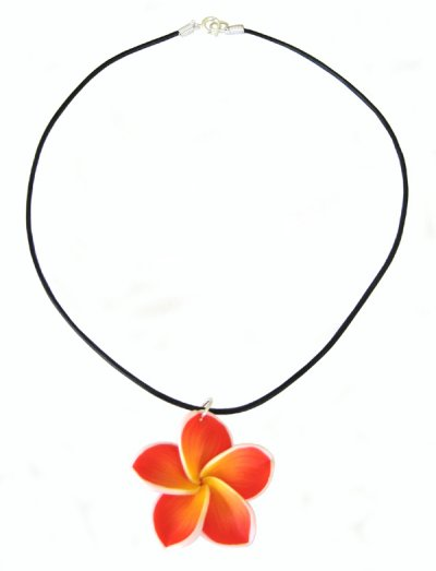 orange/red necklace